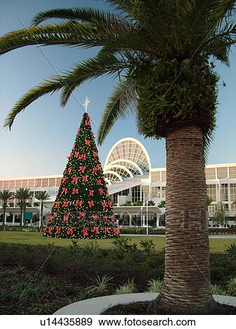 Orlando, FL, Florida, Orange County Convention Center, Christmas Tree, decorations