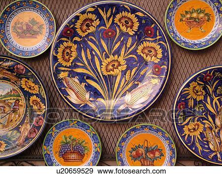Assez Banque de Photographies - poterie, italie, ombrie, orvieto, europe  NU41