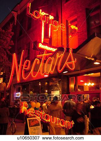 Picture Of Burlington Vt Vermont Neon Sign Nectars Lounge And