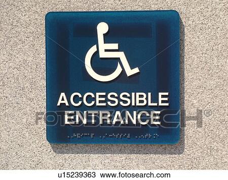 stock photo of handicap sign handicap accessible entrance u15239363