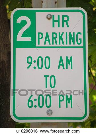 Road Sign 2 Hour Parking Zone Regulatory Signs