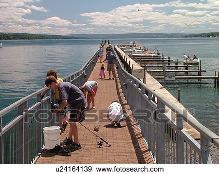 Stock Photograph Of Skaneateles Ny New York Finger Lakes Region