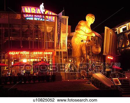 Orlando Fl Florida Universal Resort City Walk Nba Restaurant Evening