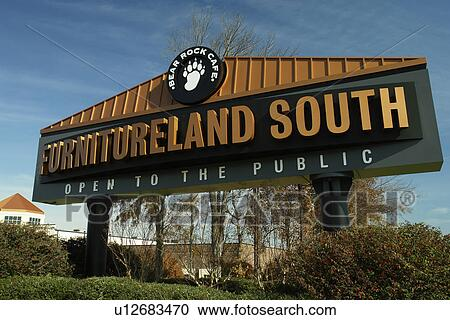 High Point, Jamestown, NC, North Carolina, Furnitureland South, Sign