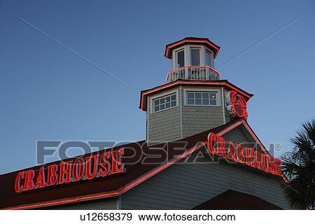 Myrtle Beach Sc South Carolina The Grand Strand Crabhouse Seafood Restaurant Stock Photo