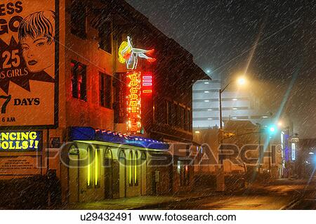 Stock photography of usa new jersey atlantic city the neon lights usa new jersey atlantic city the neon lights of a strip club shine through the rain aloadofball Images
