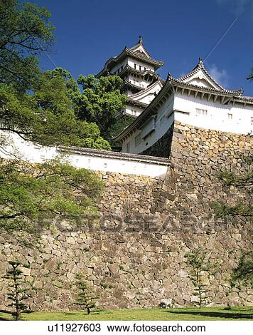 Stock photo of himeji castle hyogo prefecture japan asia low himeji castle hyogo prefecture japan asia low angle view pan focus publicscrutiny Choice Image