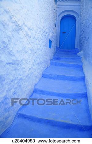 stock photo of blue steps leading to door u28404983 search stock