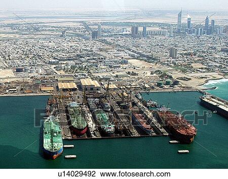 e1daf91acb3 Dubai, εναέρια, dubai, λιμάνι, rashid, dubai, στεγνός. u14029492 Φωτογραφίες  ...