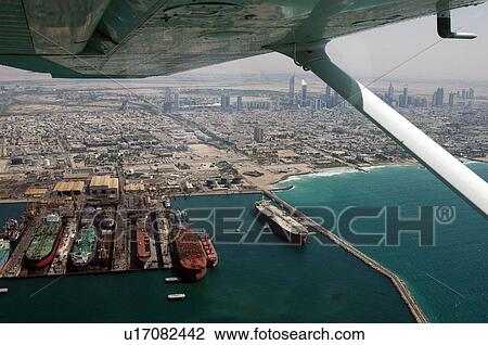 041f923d634 Dubai, εναέρια, dubai, λιμάνι, rashid, dubai, στεγνός Αποθήκη ...