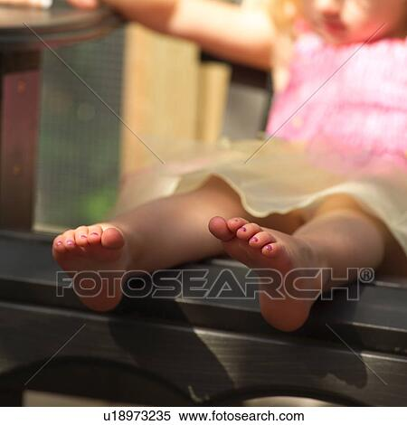 stock image of close up of a young girl bare feet u18973235 search