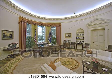Le bureau ovale de la maison blanche reconstitué a festival de
