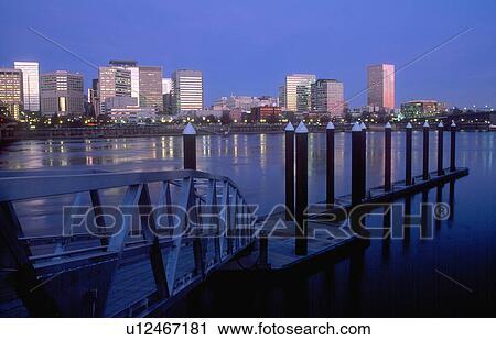 Eastbank Esplanade Portland Oregon Stock Image