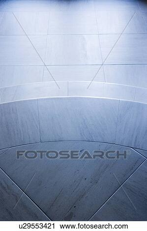 Stock Photography Of View From Above Blue Stone Staircase U29553421