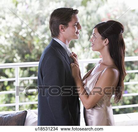 6965209f57da A couple dressed for an evening out Picture   u18531234   Fotosearch