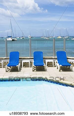 Pleasing Lounge Chairs At The Poolside Stock Image Ncnpc Chair Design For Home Ncnpcorg
