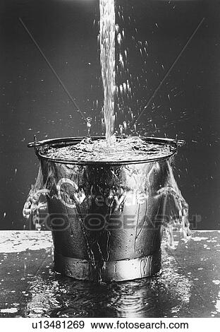 Pouring Water From Bucket