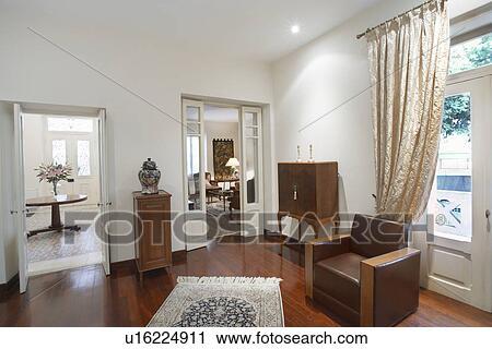 Stock Fotografie - cyprus, woonkamer, van, koloniale stijl, woning ...