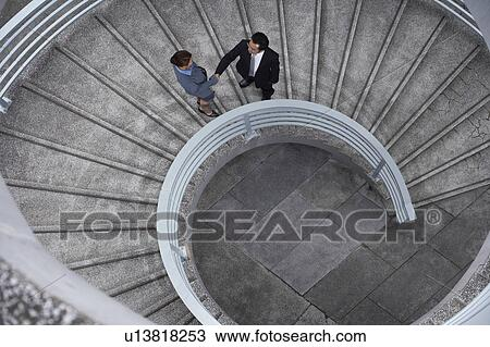 Stock Photo Of China Hong Kong Two Business People Shaking Hands