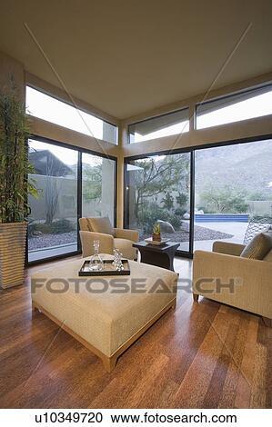 Banco de Fotografías - neutrally, muebles tapizados, en, habitación ...