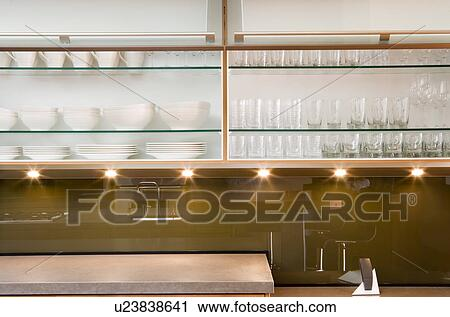 Stampe Cucina Moderna : Archivio fotografico moderno armadio muro cucina u