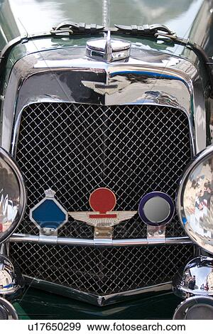 Stock Photograph Of Aston Martin Front View Of Mesh Grille And