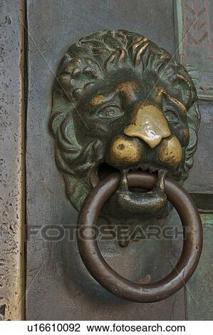 Bronze Lion Head Door Knocker, Amalfi Duomo
