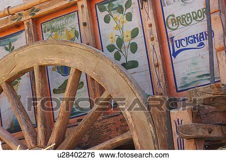 Painted Antique Wooden Wagon