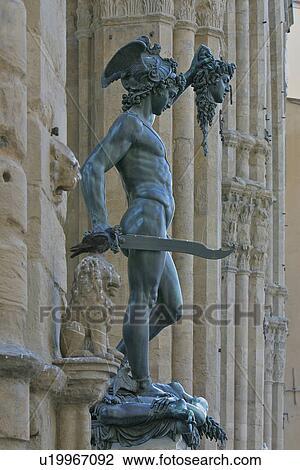 Statue Of Perseus Holding Head Of Medusa By Benvenuto