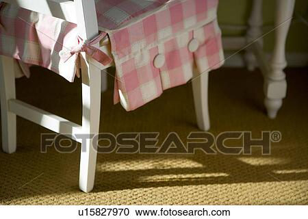 Swell Childrens Desk Chair With Pink And White Seat Cover Stock Alphanode Cool Chair Designs And Ideas Alphanodeonline