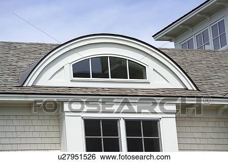 exterior detail shingle style house stock photograph u27951526