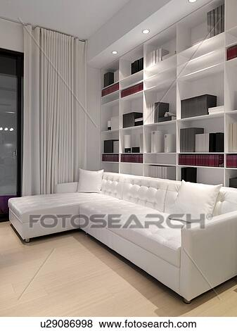 Weisses Bücherregal bilder weißes sofa vor wand bücherregal u29086998 suche