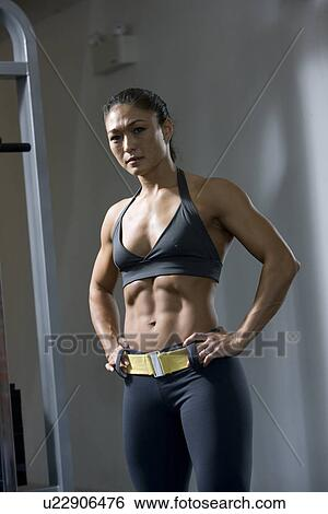 Asian girl muscle
