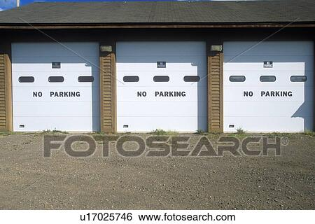 Stock Images Of No Parking Signs On A Garage Door U17025746 Search