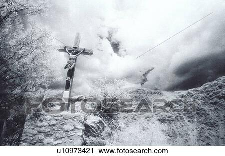 Old Rugged Cross On Hill