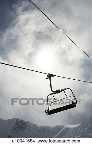 empty chair lift snow empty chair lift at ski resort stock photo of u10041684 search