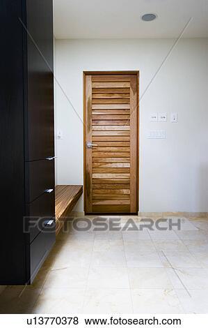 Doors In Modern Bathroom Dressing Area