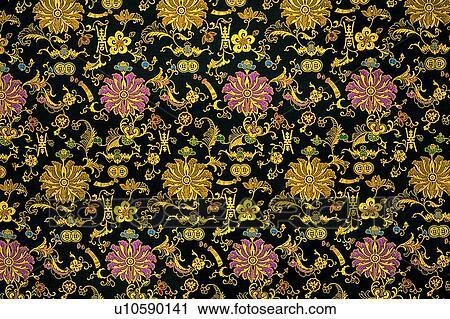 Banques de photographies motif papier peint tissu for Papier peint motif chinois