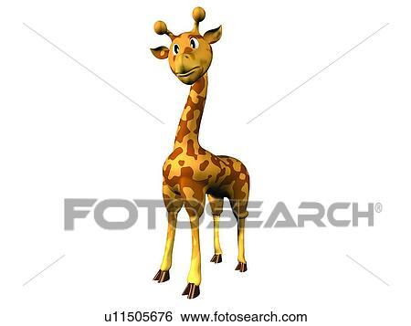 banque d 39 images mignon girafe dessin anim animal 3d u11505676 recherchez des photos. Black Bedroom Furniture Sets. Home Design Ideas