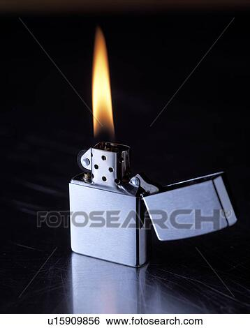 Stock Images Of Zippo Lighter Flame U15909856
