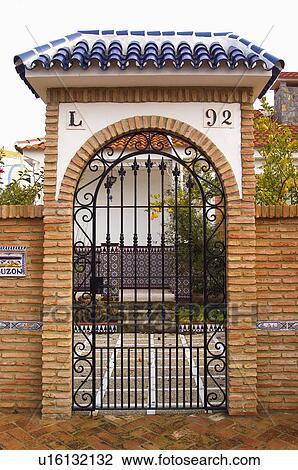 Spain, Spanish, Building, House, Entrance, Door, Grate