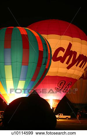 Gatineau Hot Air Balloon Festival Quebec Canada Night Glow