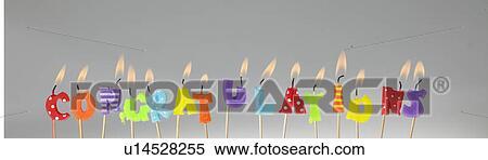 Kerze Briefe Lit Und Rechtschreibung Heraus