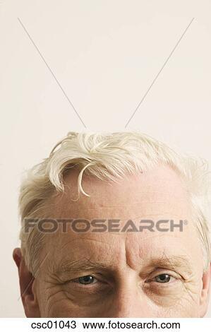 Banque De Photo Personne Agee Homme Coiffure Csc01043