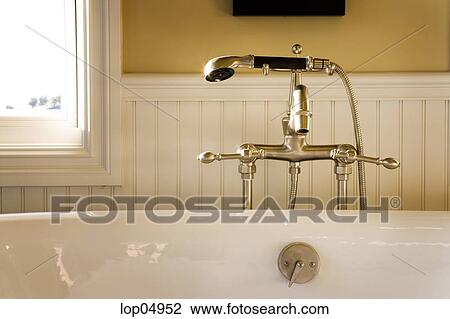 Stock Photo of Fancy Bathtub Faucet and Shower Head lop04952 ...