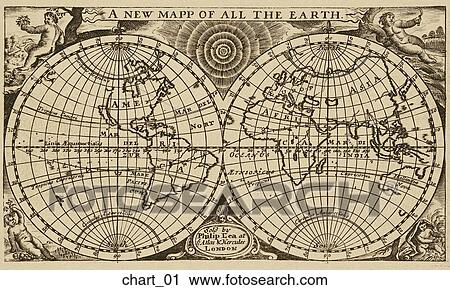 Clipart of antique world map copper engraving chart01 search antique world map copper engraving gumiabroncs Image collections