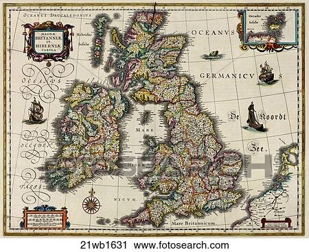 Clipart of Antique Map of Europe (hand-colored copper engraving ...