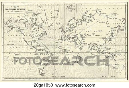 Stock Illustrations Of Antique World Map Wood Engraving C 1850
