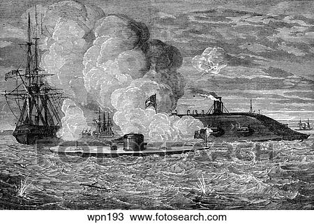 an examination of the naval battle between uss monitor and css merrimack The history of the battle of hampton roads between the two ironsides ships is a remarkable era of naval warship that took place in march 8-9 1862 between uss monitor and merrimack css virginia (civil war trust, 2014.