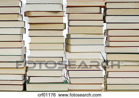 stock images of stacked books crf01176 search stock photography